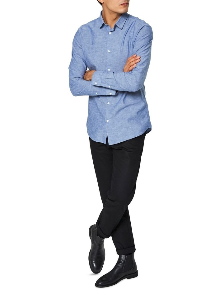 Slim Linen Long Sleeve Shirt image 3