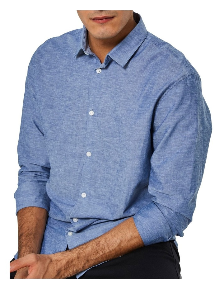 Slim Linen Long Sleeve Shirt image 4