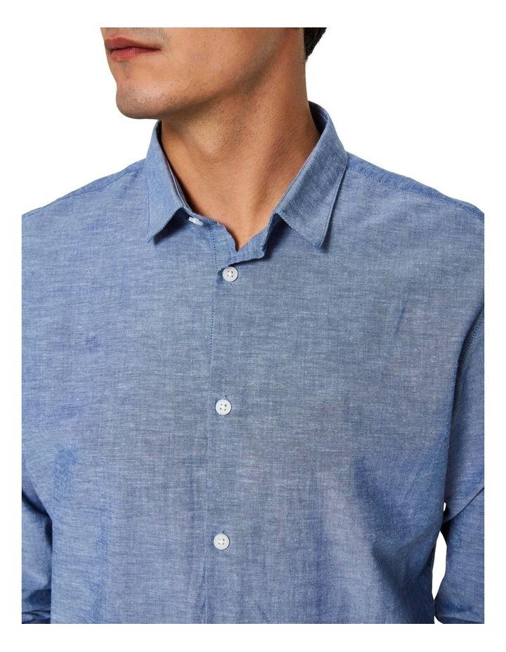 Slim Linen Long Sleeve Shirt image 5