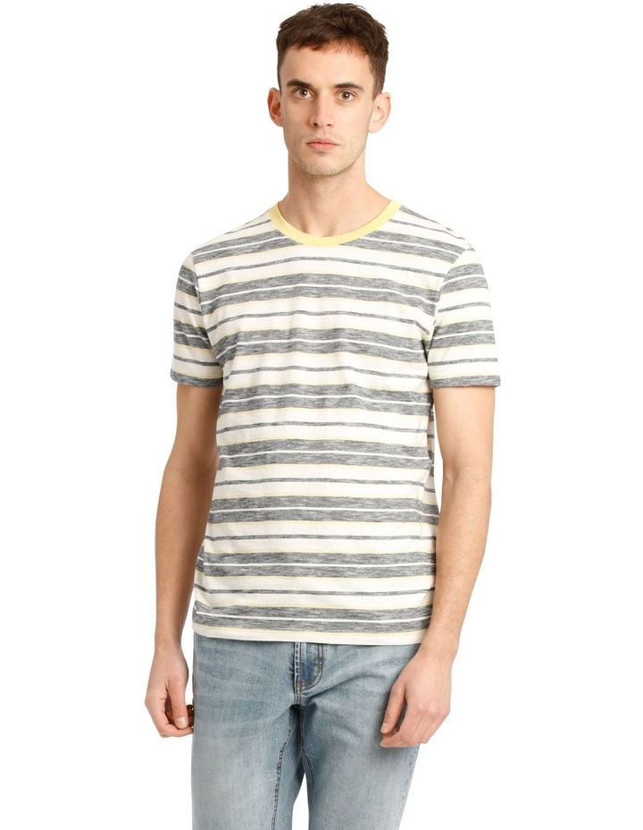 Kasper Stripe Short Sleeve O-Neck Tee image 1