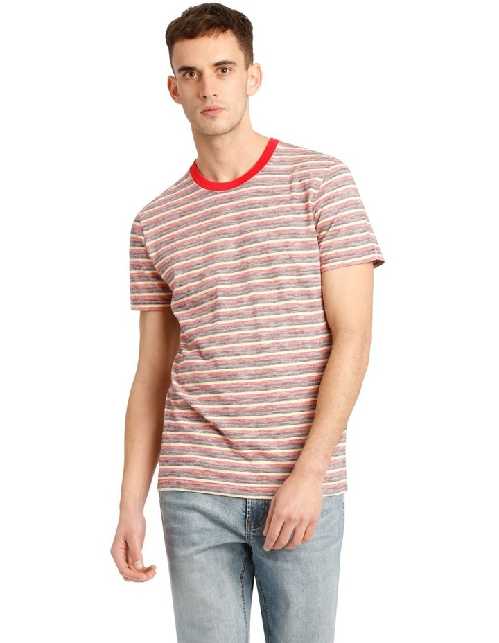 Kasper Stripe Short Sleeve O-Neck image 1