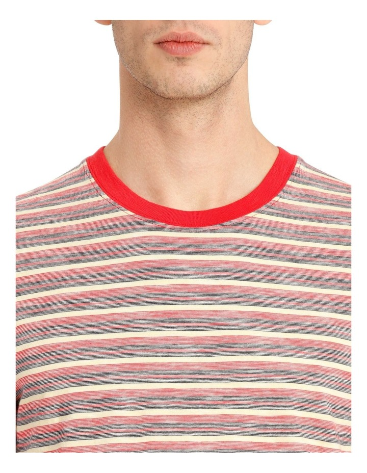 Kasper Stripe Short Sleeve O-Neck image 4