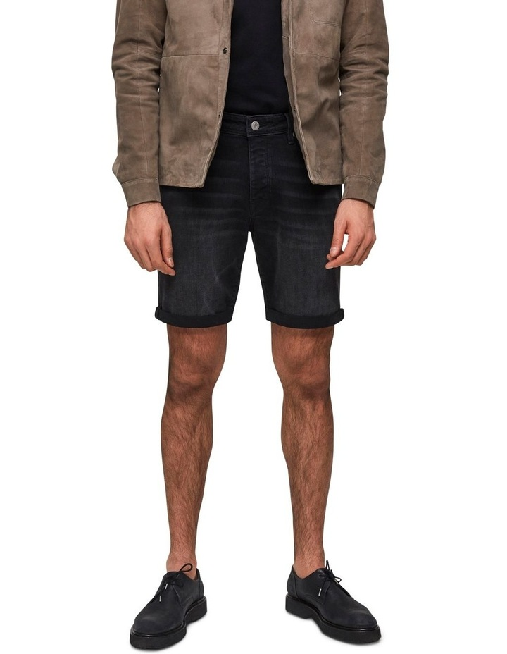 Halex 317 Wash Black Denim Shorts image 1