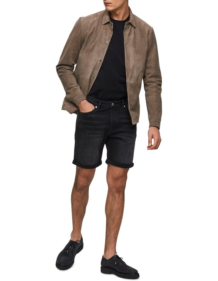 Halex 317 Wash Black Denim Shorts image 3