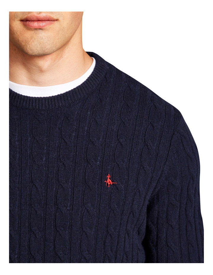 Marlow Cable Crew Neck Jumper image 3