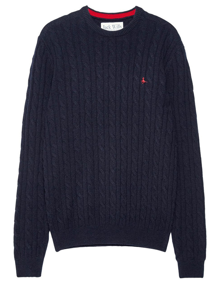Marlow Cable Crew Neck Jumper image 4