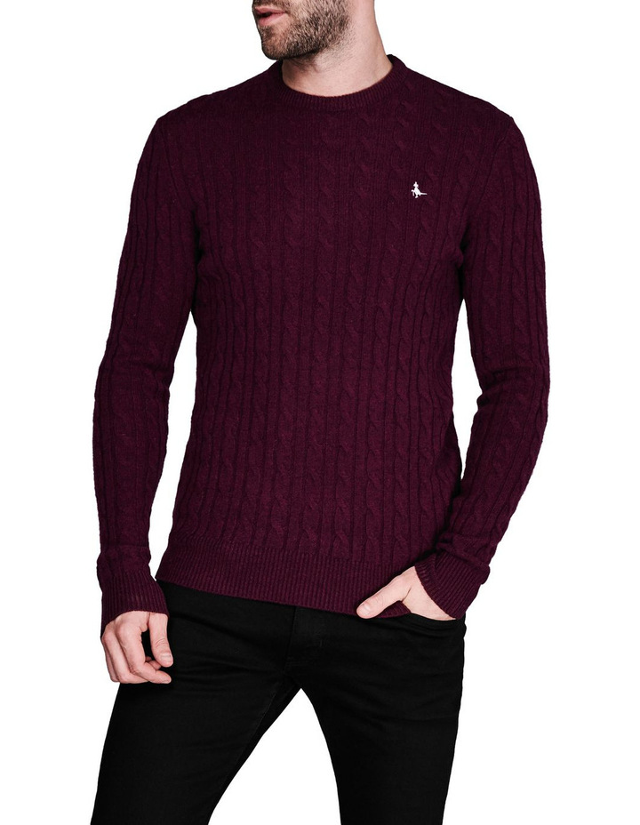 Marlow Cable Crew Neck Jumper image 1