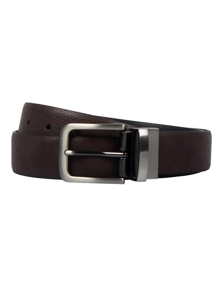 Reversible 32mm Pin Buckle Brown/Black Belt image 2