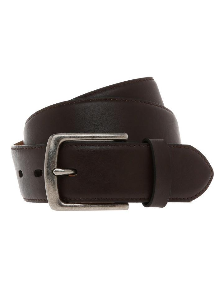 Casual 38mm Pin Buckle Dark Brown Belt image 1