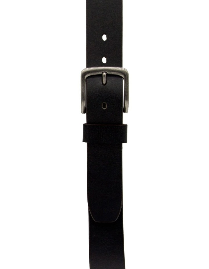 Black Leather Jean Belt image 1