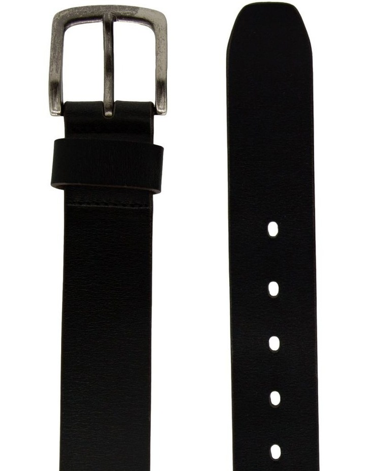 Black Leather Jean Belt image 2