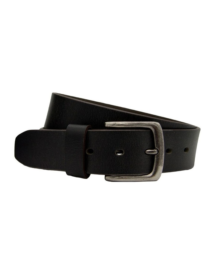 Black Leather Jean Belt image 3