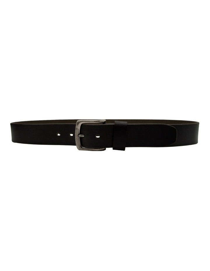 Black Leather Jean Belt image 4