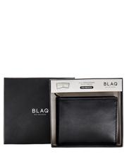 Blaq - Slimline Billfold Wallet Black