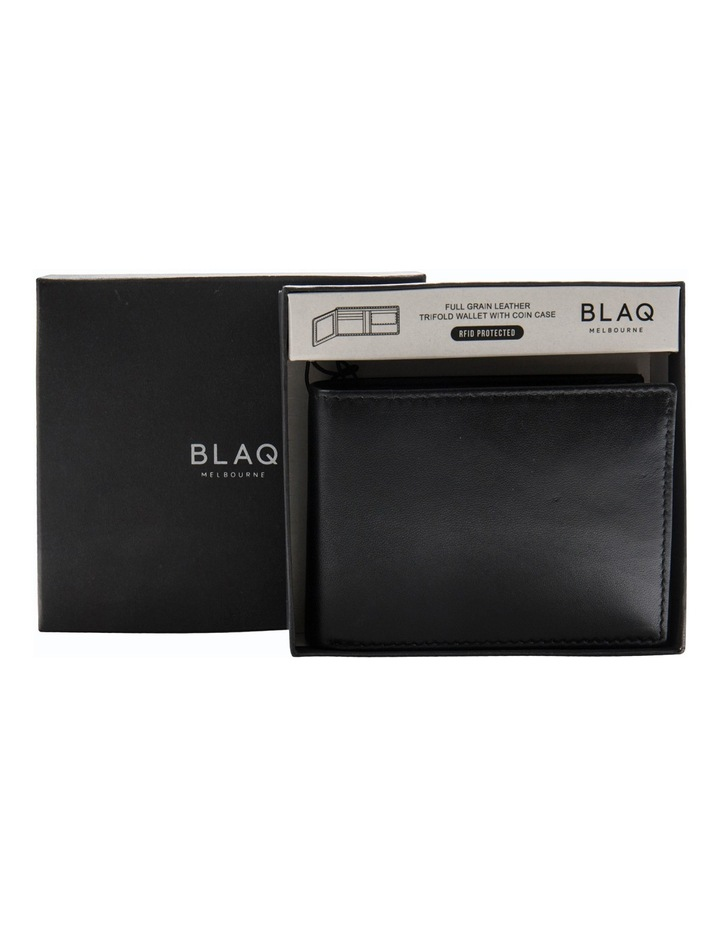 Trifold Wallet With Coin Purse Black image 1