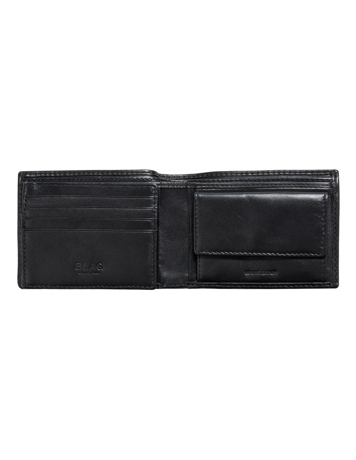 Trifold Wallet With Coin Purse Black image 2