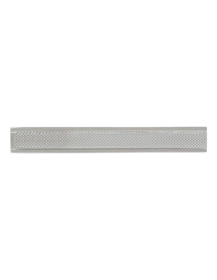 Pattern Silver Tie Bar image 1