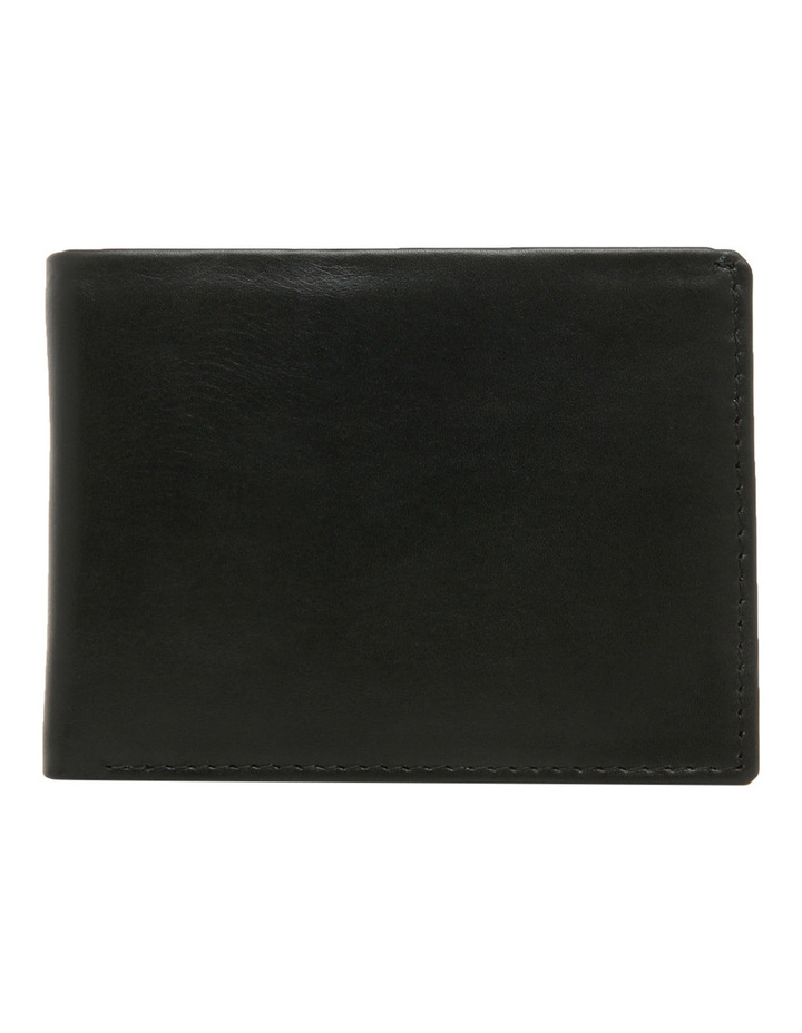 Rfid Slimline Bifold With Coin Pouch Black Wallet image 1