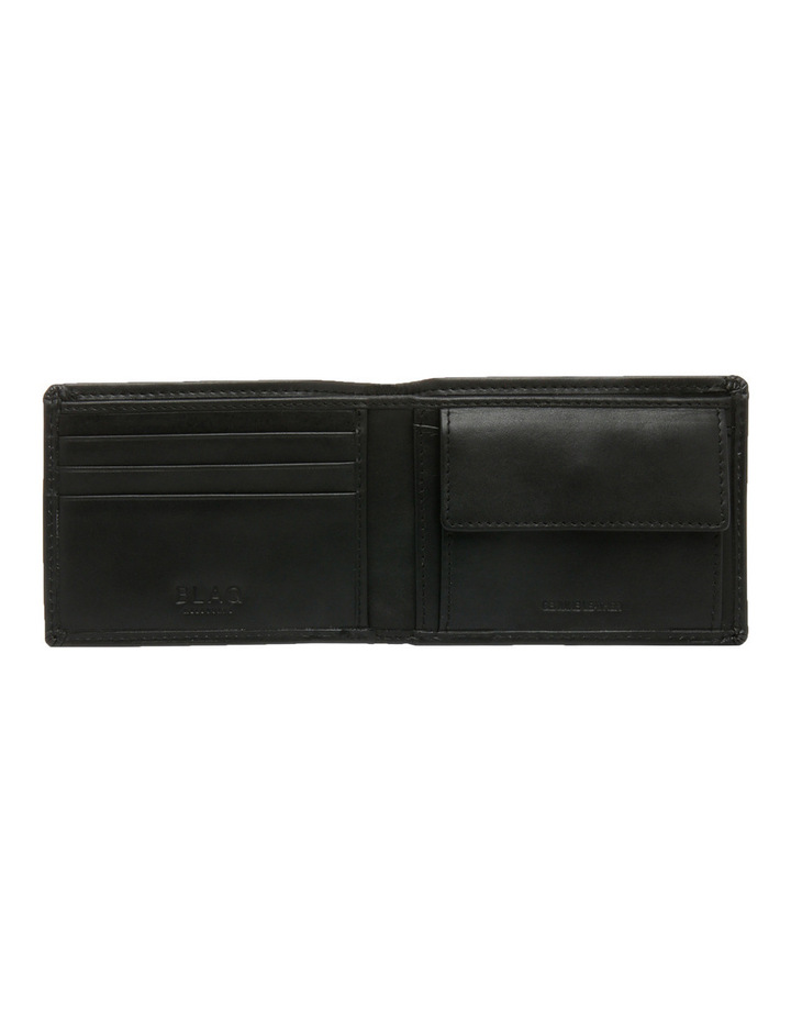Rfid Slimline Bifold With Coin Pouch Black Wallet image 3
