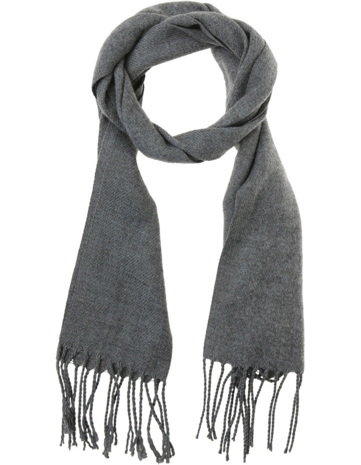 Solid Grey Woven Scarf  MMb517 image 1