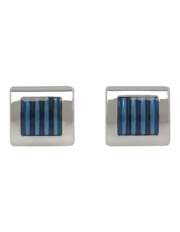 Striped Enamel Cufflinks image 1