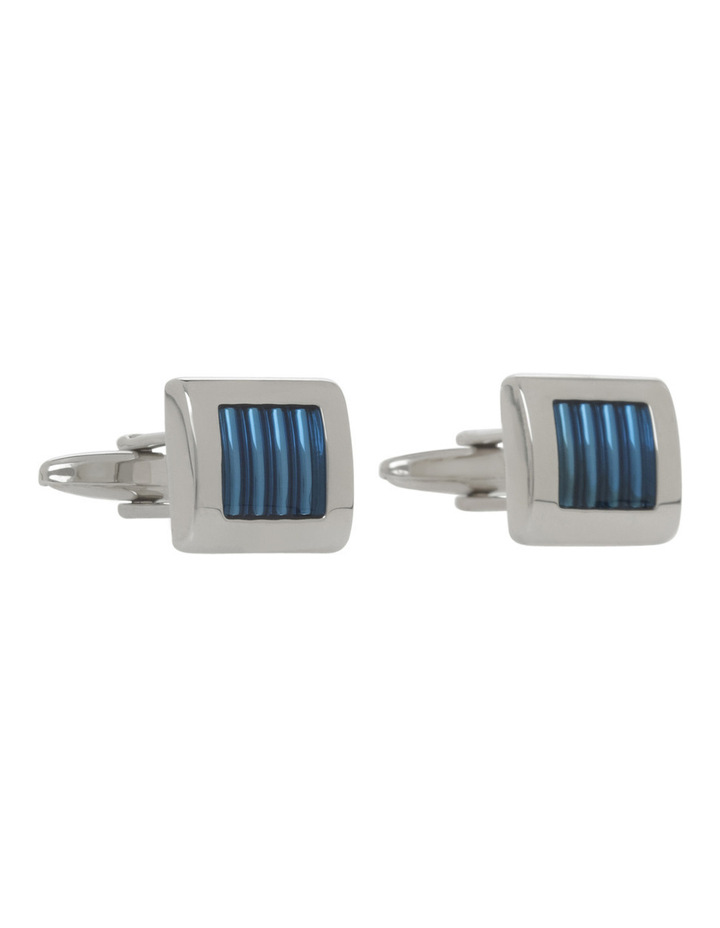 Striped Enamel Cufflinks image 2