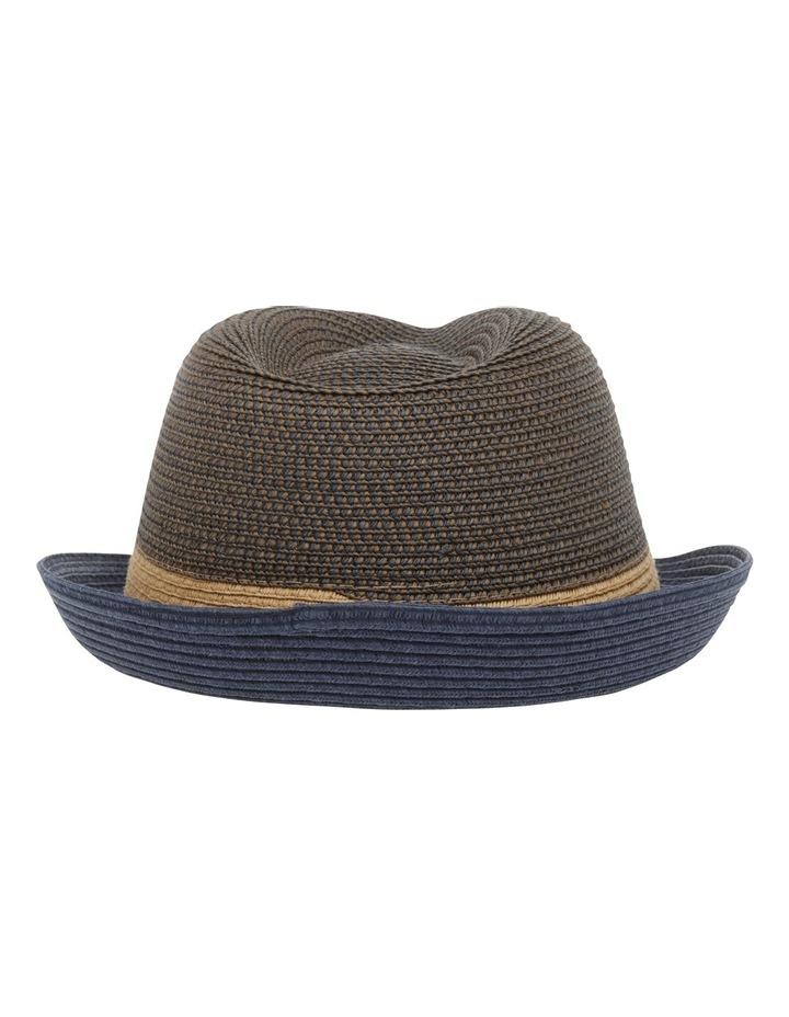 Flynn Colourblock Trilby Navy Combo Hat image 3