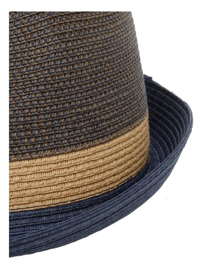 Flynn Colourblock Trilby Navy Combo Hat image 4