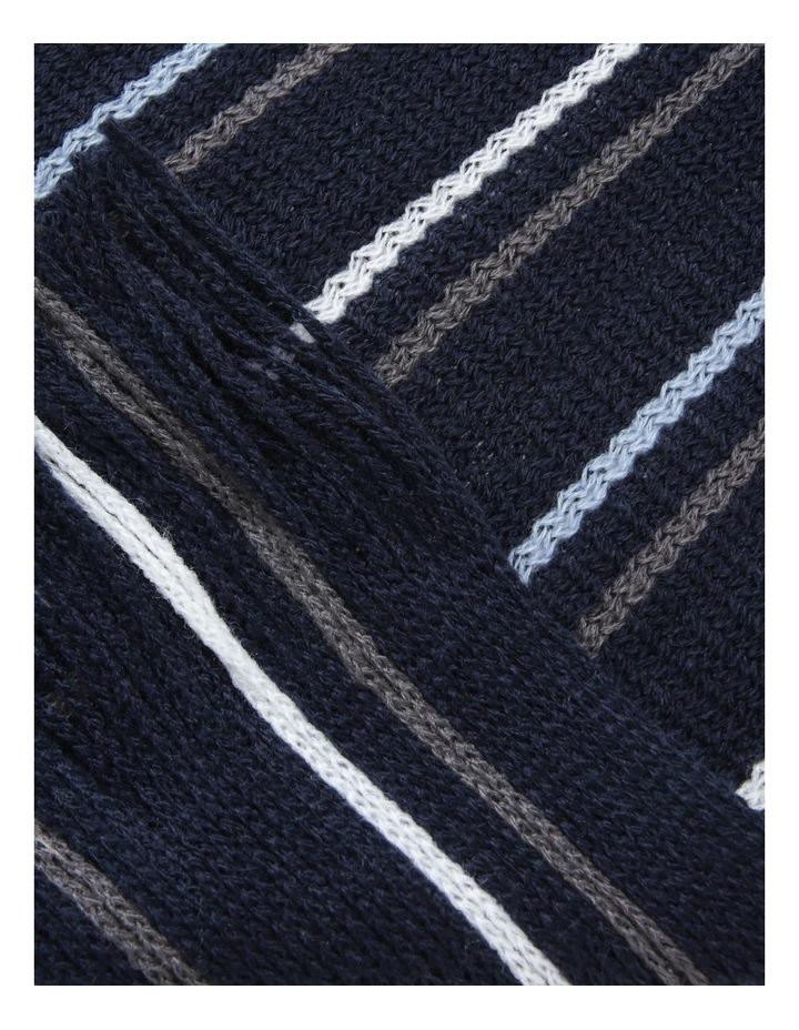 Stripe Rochelle Navy Scarf image 2