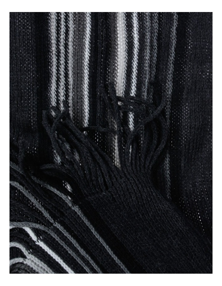 Stripe Rochelle Charcoal Scarf image 2