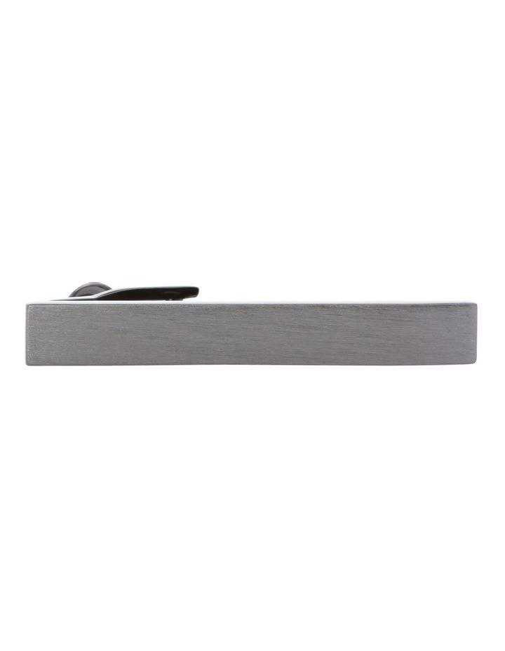 Brushed Gun Metal Tie Bar image 1