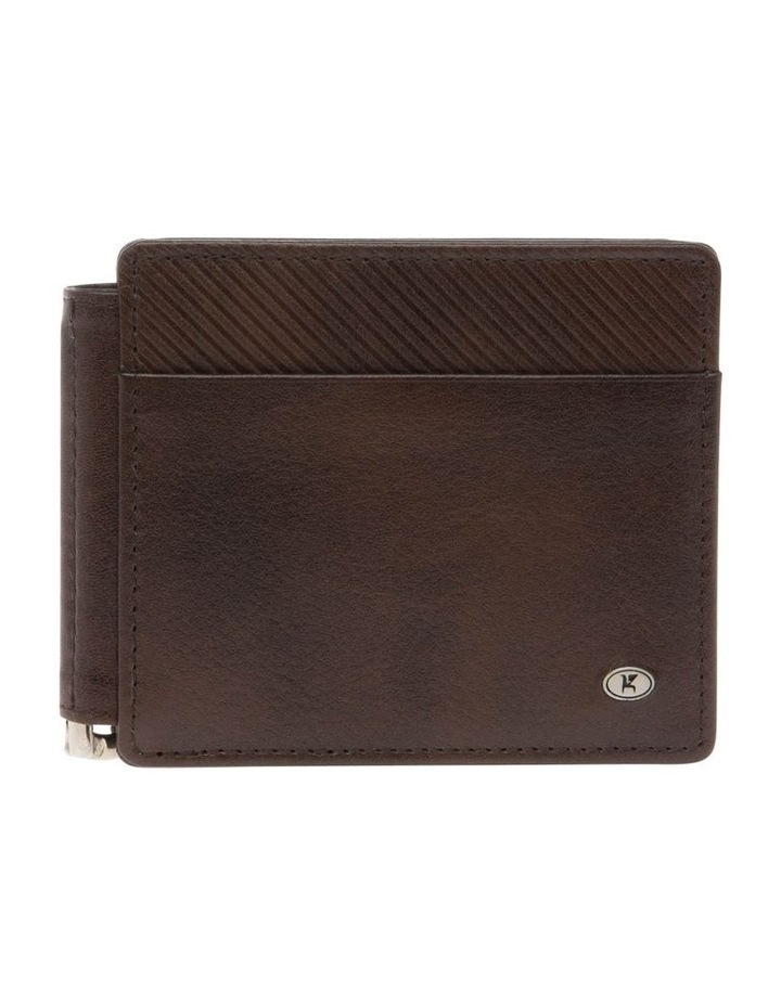 Bifold Wallet With Center Money Clip image 1