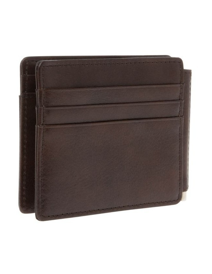 Bifold Wallet With Center Money Clip image 2