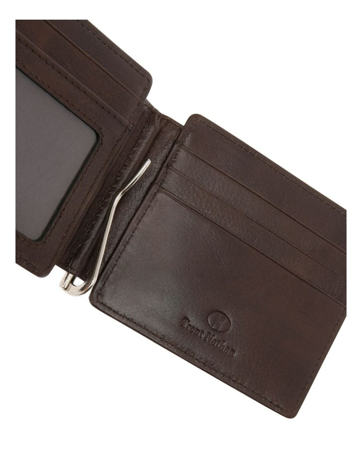 Bifold Wallet With Center Money Clip image 4