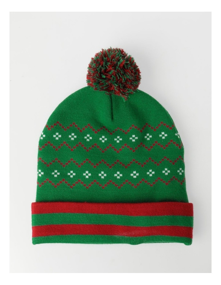 Santa Lights Green Beanie image 3