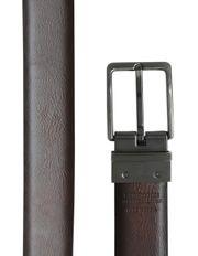 Ben Sherman - Reversible Nickel Antique Brushed Pin Buckle 32mm Belt - Black / Brown Textured