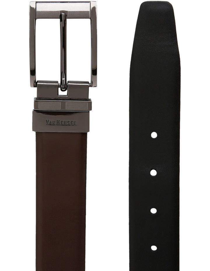 Van Heusen Brown/Black Reversible Smooth Belt Vbm444_Bblk image 2