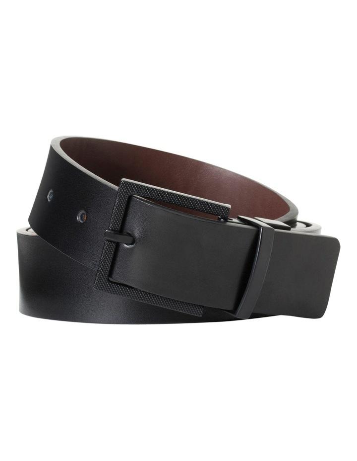 Black/Brown Reversible Smooth Belt W/ Buckle VBM222Z_BBLK image 1