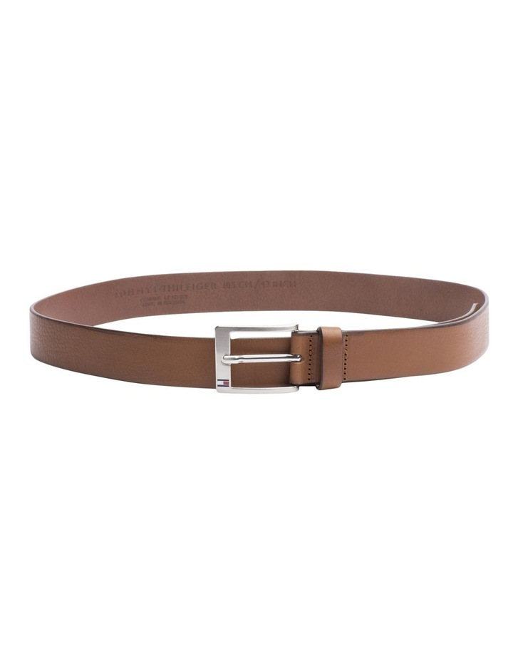 Flag Buckle Leather Belt image 1