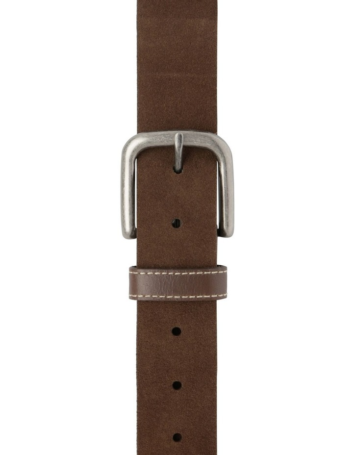Suede Belt With Leather Keeper image 1