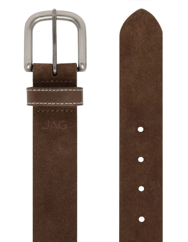 Suede Belt With Leather Keeper image 2