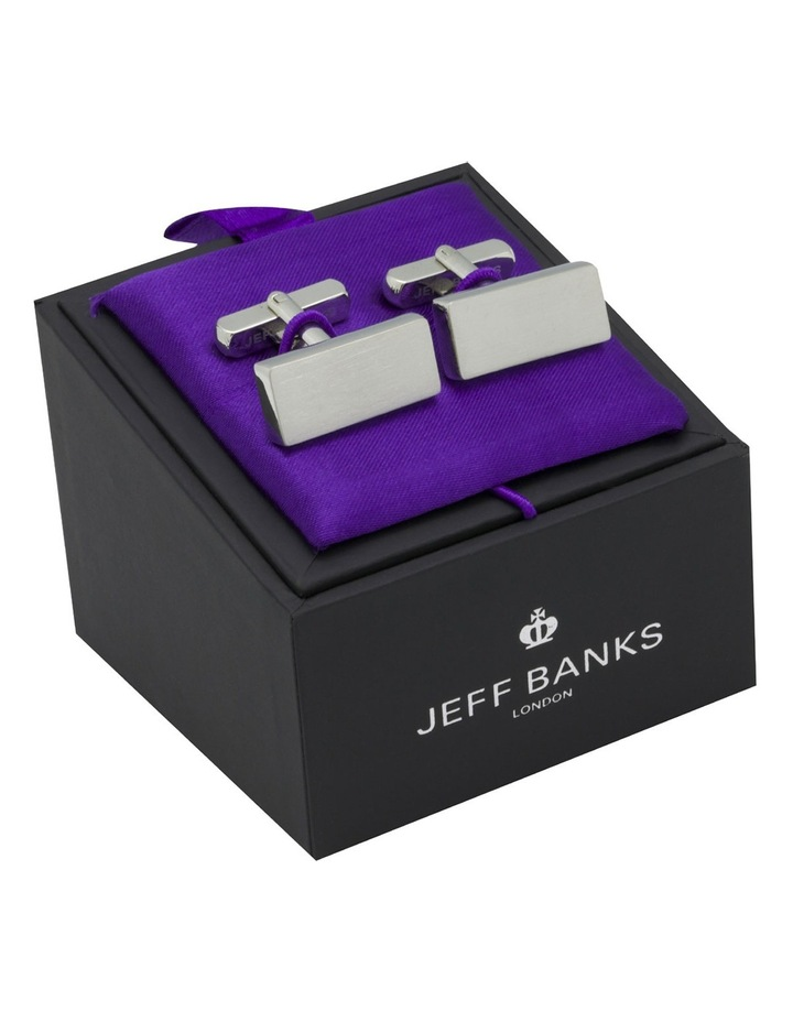 Rectangle Brushed Cufflinks image 1
