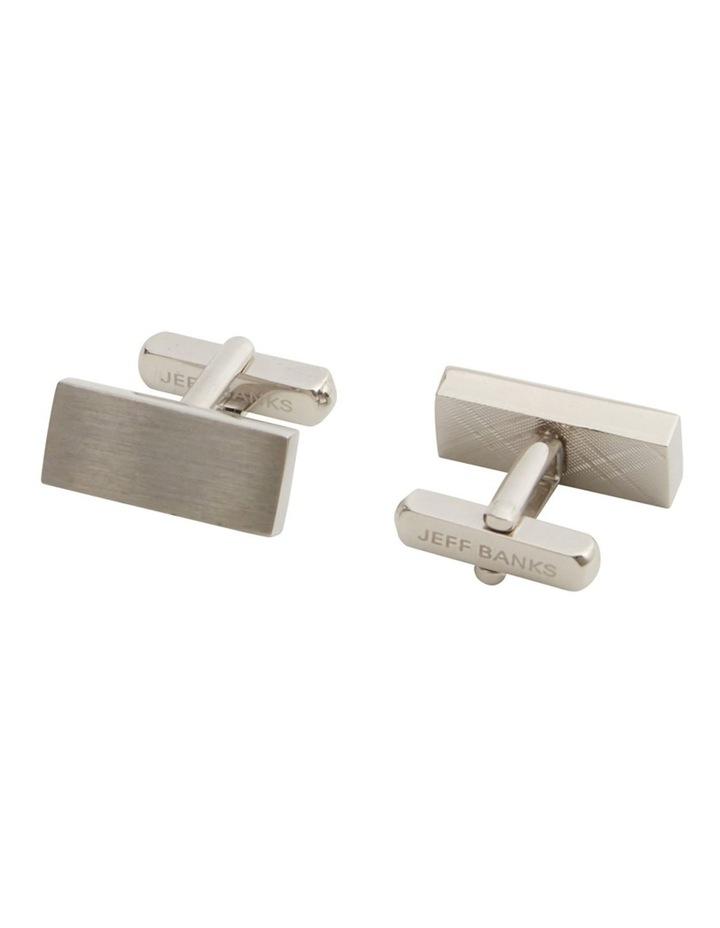 Rectangular Silver Cufflink Set image 2