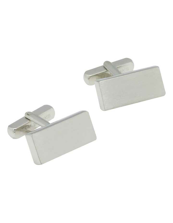 Rectangle Brushed Cufflinks image 2