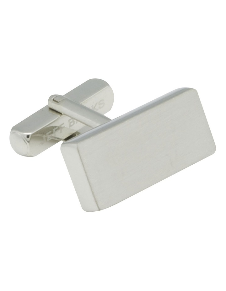 Rectangle Brushed Cufflinks image 3