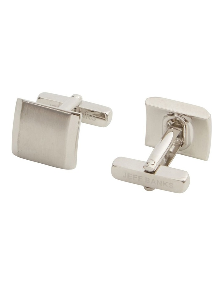 Square Silver Cufflink Set image 2
