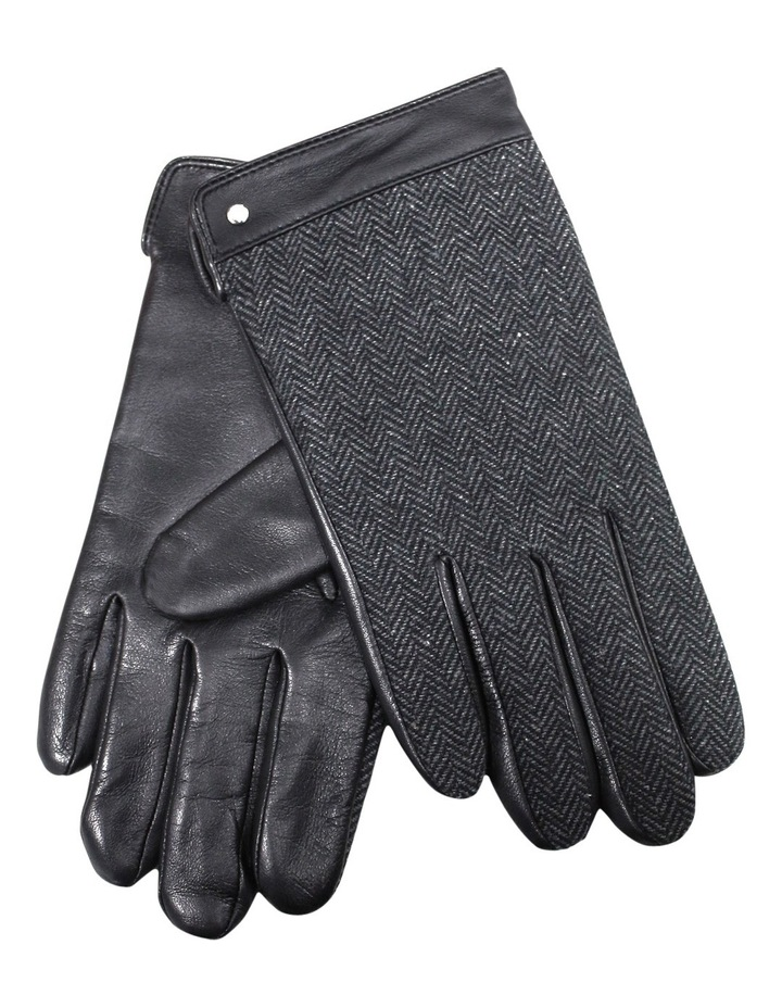 Mens Fine Leather/Woolmix Leather Gloves With Fleece Lining 75-0013 image 1