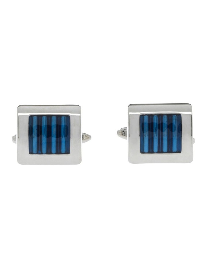 Blue And Silver Cufflinks image 1