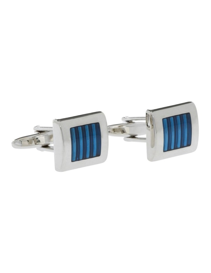 Blue And Silver Cufflinks image 2