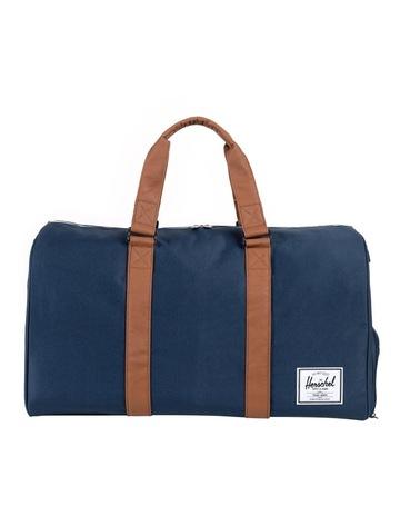 Limited stock. HerschelNavy Tan Novel Duffle Bag 2d7431463d97f